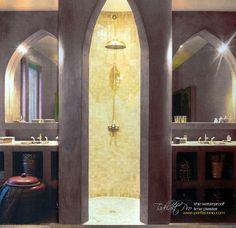 Bathroom in Tadelakt Pro by Perfectino Coatings, via Flickr