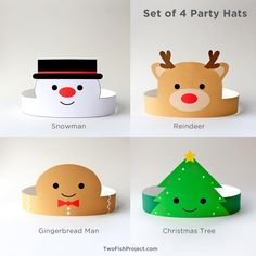 Christmas Party Hats for Kids/Adults, Christmas Paper Crowns/Headbands, Christmas Party Activ. - Christmas Party Hats for Kids/Adults, Christmas Paper Crowns/Headbands, Christmas Party Activities/ - Christmas Party Hats, Christmas Party Activities, Christmas Paper Crafts, Preschool Christmas, Kids Christmas, Holiday Crafts, Christmas Decorations, Photobooth Christmas, Etsy Christmas