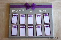 plan de table pour mariage violet et argent : Autres papeterie par isacreatif