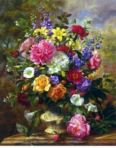 Beautiful flowers Wallpapers - Page 73 Flower Vases, Flower Art, Illustration Blume, Foto Transfer, Beautiful Flowers Wallpapers, Flower Wallpaper, Botanical Art, Beautiful Paintings, Painting & Drawing