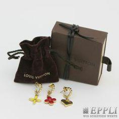 LOUIS VUITTON noble fashion jewelry hoop earrings set.  Original price € 250,- Starting price € 120,-