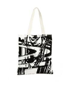 Your Eyes Lie Monochrome Print Shopper Bag