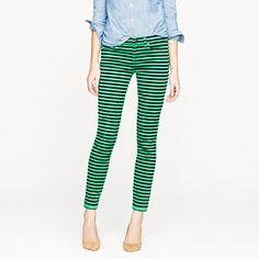 Toothpick jean in stripe by J.Crew