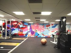 Olympians gym environment transformed by inspirational mural