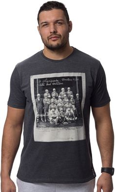 Tee-shirt '1920' gris foncé Rugby, T Shirt, Tees, Sports, Mens Tops, Fashion, Hs Sports, Moda, Tee