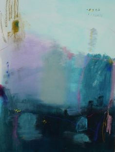 Hamsa Acrylic and Pastel on Paper contemporary artwork