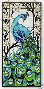 Stained Glass Peacock Window...simply beautiful!