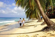 Stroll on the beach on the sheltered west coast, Barbados | Where to go at Easter: Holiday ideas for the best weather | Weather2Travel.com #travel
