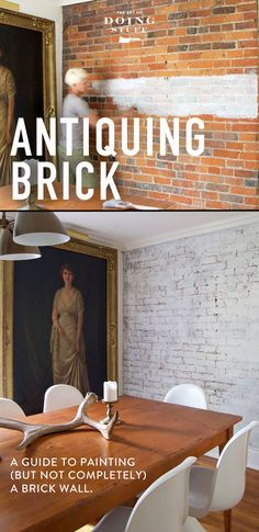 How to paint a brick wall but keep its authenticity!