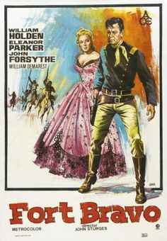 Forts in Westerns - Great Western Movies Old Movie Posters, Cinema Posters, Movie Titles, Film Posters, I Movie, Fort Western, Western Art, Westerns, Vintage Movies