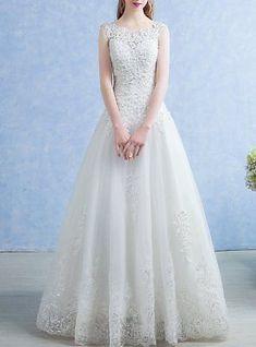 New Lace Wedding Dress Bohemian Boho A line gown custom made any size princess #laceweddingdresses
