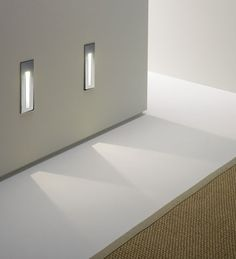 Recessed LED Wall light that are ideal for installation in hallways or near stairs.