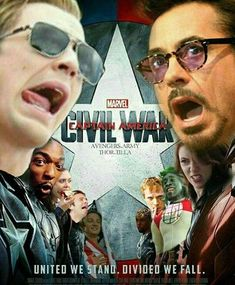 Creds to @thor.tilla for the civil war poster of funny faces