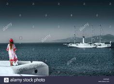 Stock Photo - The beautiful view from windmills in Mykonos island, Greece Mykonos Island, My Photos, Stock Photos, Windmills, Pop Up, Vectors, Greece, Illustrations, Image