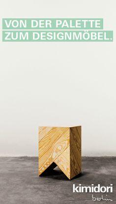 kimidori 45° Hocker Beistelltisch natur #pallet #furniture #moebel #upcycling http://www.kimidori.de