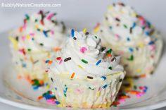 cake batter ice cream cupcakes1 Ice Cream Cupcakes! {Pretty in Pink}