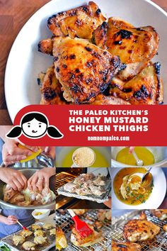 The Paleo Kitchen's Honey Mustard Chicken Thighs - Nom Nom Paleo - - These paleo honey mustard chicken thighs are the perfect weeknight meal! You can throw them together with items you already have in your kitchen! Nom Nom Paleo, Paleo Chicken Thighs, Paleo Honey, Clean Eating, Honey Mustard Chicken, Primal Recipes, Paleo Dinner, Dinner Recipes, Paleo Whole 30