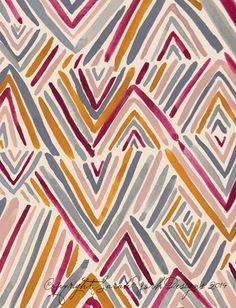 print & pattern: DESIGNER - sarah york Etnic Pattern, Bohemian Pattern, Pattern Art, Abstract Pattern, Abstract Designs, Bohemian Print, Ethnic Print, Stripe Pattern, Abstract Print