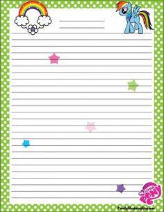 {free} printable My Little Pony Stationery 4