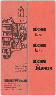 Bücher Hansen [Lesezeichen] : Bücher lieben, Bücher lesen, Bücher Hansen von | LibraryThing