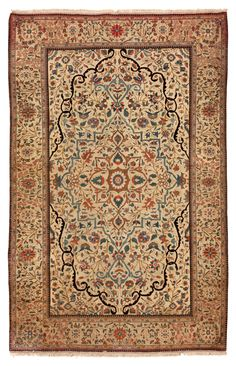 Antique Kashan Mohtashem Persian Rug 45257 Detail/Large View - By Nazmiyal >>>> great piece, rare designs.