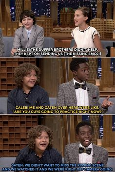 Stranger things funny, stranger things have happened, stranger things cast interview, stranger things Stranger Things Have Happened, Stranger Things Funny, Duffer Brothers, Kissing Scenes, Film Serie, Best Shows Ever, Percy Jackson, Favorite Tv Shows, Just In Case