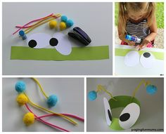 Fun and Easy Preschool Bug Craft! There are some other great Bug Crafts featured here too!