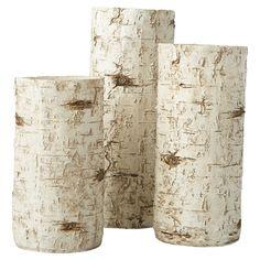 3-Piece Woodside Candleholder Set Showcasing a birch branch-inspired design and natural finish on Joss & Main.