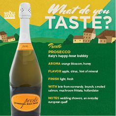 Looking for a nice bottle of bubbles? Try this Presto Prosecco! (click for more great wines from Italy)