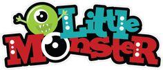 Little Monster SVG scrapbook title monster svg file monster svg cuts free svgs svgs for cricut scal
