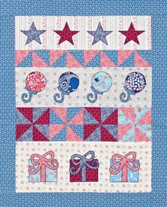 Know of a little one on the way? This wall hanging of appliqué shapes, Pinwheel blocks, and fun prints comes together quickly, making it an easy gift to assemble before the sweet one arrives!
