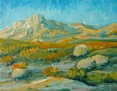 Original southwestern oil painting by Kristo4r