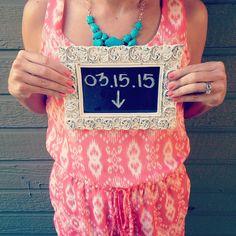 We're pregnant! Pregnancy announcement
