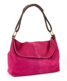 Look at this #zulilyfind! Fuchsia & Brass Suede Braided Strap Shoulder Bag by Henri Lou #zulilyfinds