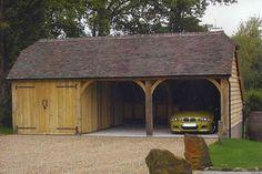 Wood garage buildings gardens offices east carport carport sheds garage stu Carport Designs, Garage Design, House Design, Door Design, Carport Sheds, Carport Garage, East Sussex, Wooden Carports, Wooden Garages