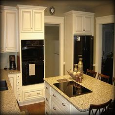 Arlington White Kitchen Cabinets - Double Oven Cabinet Proof that I still prefer SS appliances White Kitchen Cabinets, Painting Kitchen Cabinets, Kitchen Cabinetry, Kitchen Flooring, Kitchen Wall Colors, Kitchen Decor Themes, Kitchen Ideas, Kitchen Designs, Kitchen Tips