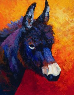 Little Jack - Burro Painting by Marion Rose - Little Jack - Burro Fine Art Prints and Posters for Sale