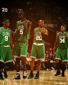 Baston Celtic Legendary Team  Rajon Rondo, Kevin Garnet, Ray Allen, Paul Pierce