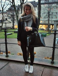 scarf sweater and shoes
