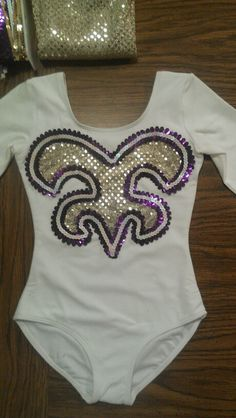 Girls LSU Golden Girl outfit. I totally want to make one like this with the matching cape and gloves!