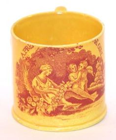 526: Canary Ware Child's Mug. : Lot 526