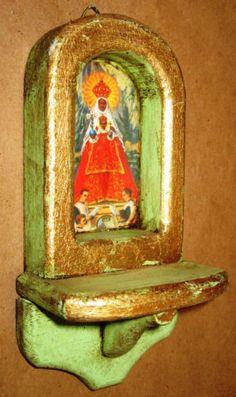 Wood Nicho --- I love retablos...