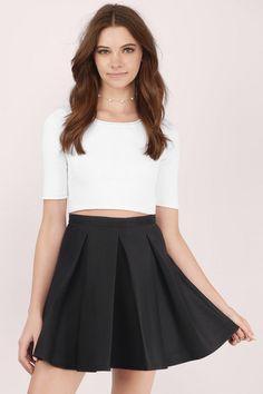 Myah Pleated Skater Skirt at Tobi.com | #SHOPTobi | New Arrivals | January 16'
