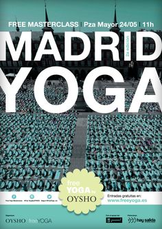 Nos estamos preparando para la Free Yoga masterclass by Oysho del 24 de mayo. Inscripciones abiertas en www.freeyoga.es/evento-madrid