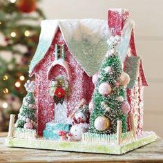 glitter paper house