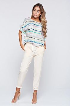 Pantaloni PrettyGirl crem casual conici cu buzunare - http://hainesic.ro/pantaloni/pantaloni-prettygirl-crem-casual-conici-cu-buzunare-e88734a23-starshinersro/