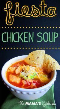 Fiesta Chicken Soup  Recipe by Marie Poulson.   Read more at http://myrecipemagic.com/recipe/recipedetail/fiesta-chicken-soup#yyRzB67ORmA1ugaC.99