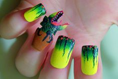Little Shop of Horrors nails. love this! and as a cosmetologist i know how difficult this project would be