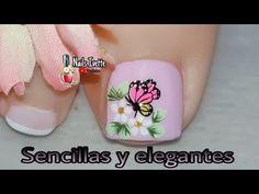 Toe Nail Art, Toe Nails, Manicure And Pedicure, Beauty, Diana, Youtube, Work Nails, Toenails Painted, Pretty Toe Nails