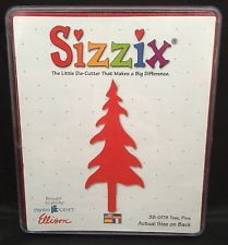 Sizzix Original Red Die Cut Large Pine Tree 38-0178 Holiday Christmas